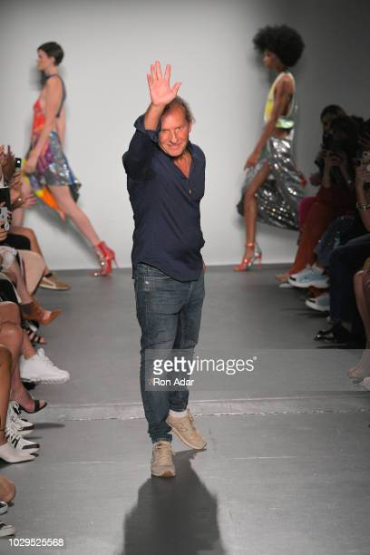 Designer Custo Dalmau walks the runway at the Custo Barcelona show during New York Fashion Week The Shows at Pier 59 on September 8 2018 in New York...