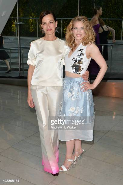 Designer Cynthia Rowley and actress Anna Chlumsky attend the 2014 CFDA fashion awards at Alice Tully Hall Lincoln Center on June 2 2014 in New York...