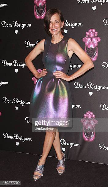 Designer Cynthia Rowley attends the Dom Perignon Limited Edition Jeff Koons Bottle Launch at 711 Greenwich Street on September 10 2013 in New York...