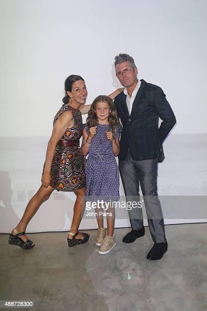 Designer Cynthia Rowley Gigi Rowley and Bill Powers attend the Cynthia Rowley Spring 16 Video Installation during Spring 2016 New York Fashion Week...