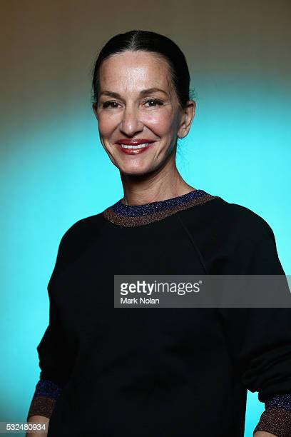 Designer Cynthia Rowley poses backstage ahead of the Cynthia Rowley show at Mercedes-Benz Fashion Week Resort 17 Collections at Carriageworks on May...