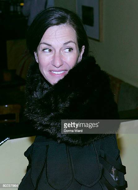 """Designer Cynthia Rowley poses before attending the after-party for """"The Seagull"""" at Pangea on March 13, 2008 in New York City."""