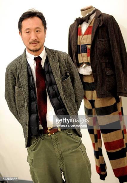 Designer Daiki Suzuki attends Woolrich Woolen Mills Cocktail Party as part of Milan Menswear A/W 2009/10 held at Lorenzelli Art Gallery on January 19...