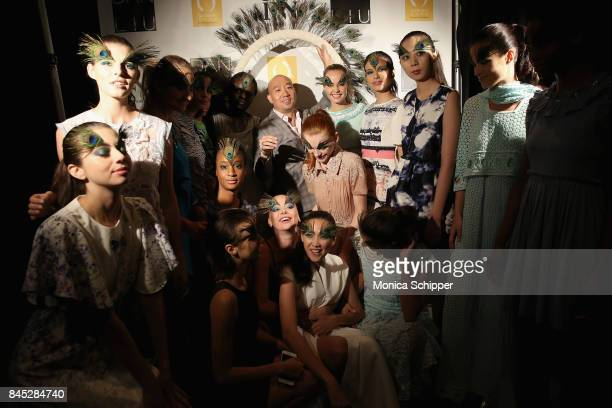 Designer Dan Liu backstage at Dan Liu fashion show during New York Fashion Week The Shows at Gallery 3 Skylight Clarkson Sq on September 10 2017 in...
