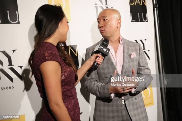 Designer Dan Liu backstage for Dan Liu fashion show during New York Fashion Week The Shows at Gallery 3 Skylight Clarkson Sq on September 10 2017 in...