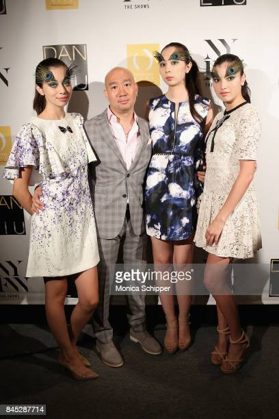 Designer Dan Liu poses backstage with models for Dan Liu fashion show during New York Fashion Week The Shows at Gallery 3 Skylight Clarkson Sq on...