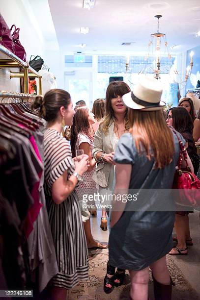 Designer Dana Foley and guests attend the Foley Corinna Melrose Avenue Event With Poshglamcom at Foley Corinna on June 9 2010 in Los Angeles...