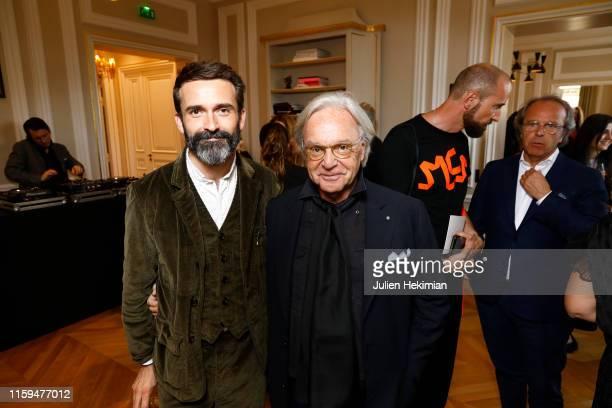 Designer Daniel Roseberry and Diego Della Valle attend the Schiaparelli Cocktail to celebrate Daniel Roseberry first Haute Couture Collection as part...