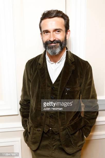 Designer Daniel Roseberry attends the Schiaparelli Cocktail to celebrate Daniel Roseberry first Haute Couture Collection as part of Paris Fashion...