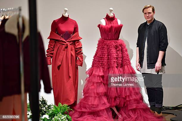 Designer Danny Reinke is seen during the Mercedes-Benz Fashion Week Berlin A/W 2017 at 'me Collectors Room' on January 19, 2017 in Berlin, Germany.