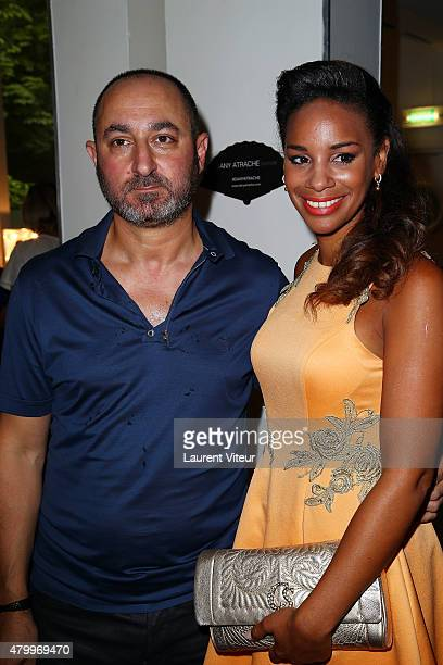 Designer Dany Atrache and Alicia Fall attend the Danny Atrache show as part of Paris Fashion Week Haute Couture Fall/Winter 2015/2016 on July 8 2015...