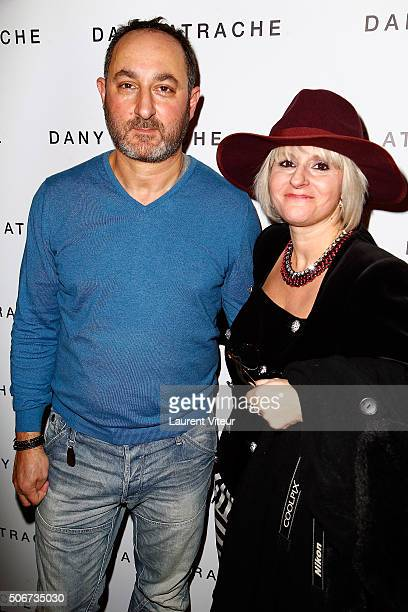 Designer Dany Atrache and Blogger Natasha Liegois attend the Dany Atrache Spring Summer 2016 show as part of Paris Fashion Week on January 25 2016 in...