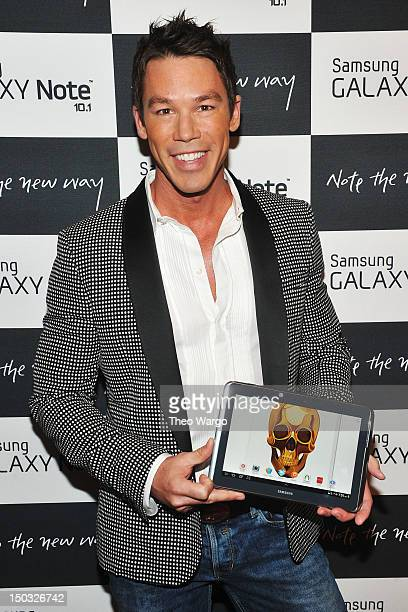 Designer David Bromstad attends Samsung Galaxy Note 101 Launch Event at Jazz at Lincoln Center on August 15 2012 in New York City