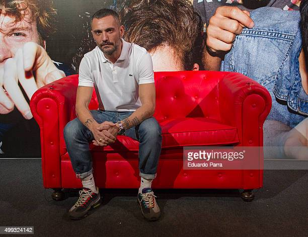 Designer DAvid Delfin attends AIDS campaign presentation at Luchana theatre on November 30 2015 in Madrid Spain