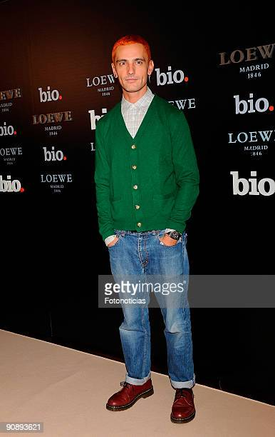 Designer David Delfin attends the BIO Channel launch party held at Loewe Shop Gran Via 8 on September 17 2009 in Madrid Spain