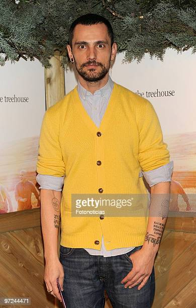 Designer David Delfin attends the launch of Marlango new album 'Life In The TreeHouse' at the Lara Theatre on March 1 2010 in Madrid Spain