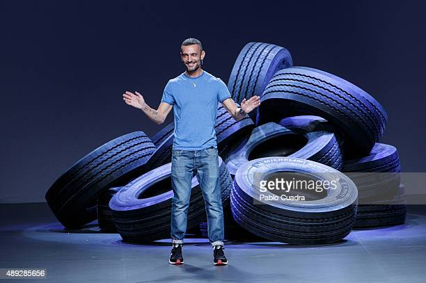 Designer David Delfin walks the runway after his show during the MercedesBenz Fashion Week Madrid Spring/Summer 2016 at Ifema on September 20 2015 in...