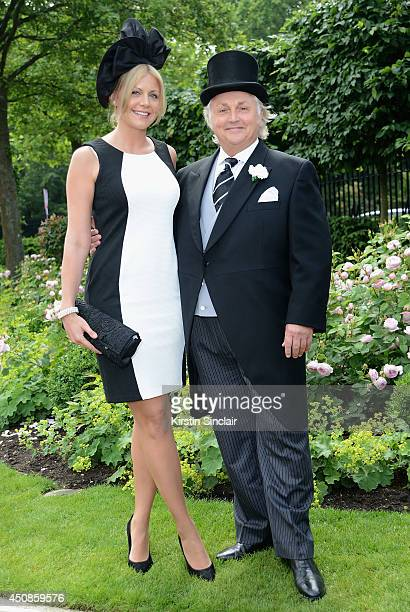 Designer David Emanuel and guest attend day three of Royal Ascot at Ascot Racecourse on June 19 2014 in Ascot England