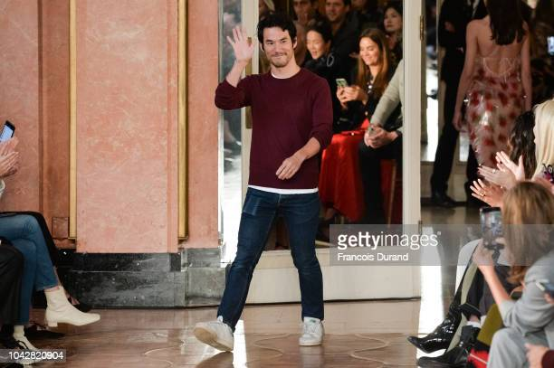 Designer David Koma walks the runway during the Altuzarra show as part of the Paris Fashion Week Womenswear Spring/Summer 2019 on September 29 2018...