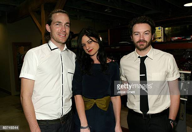 Designer David Neville Ilaria Urbinati and actor Danny Masterson attend the Confederacy Hearts Rag and Bone cocktail party held at Confederacy on...