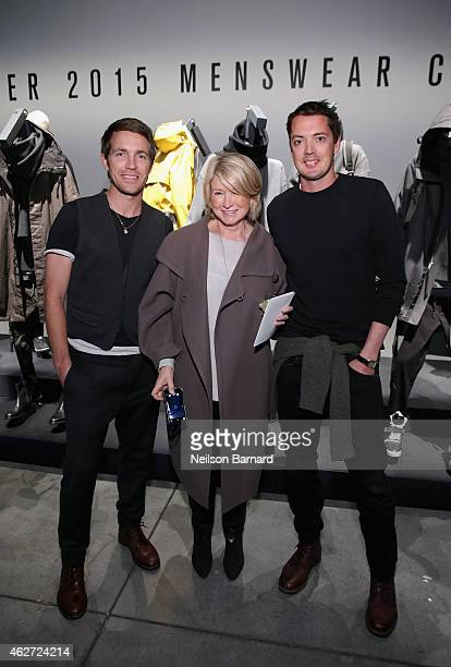 Designer David Neville Martha Stewart and designer Marcus Wainwright attend Rag Bone Fall/Winter 2015 Menswear Presentation at Dia Center on February...