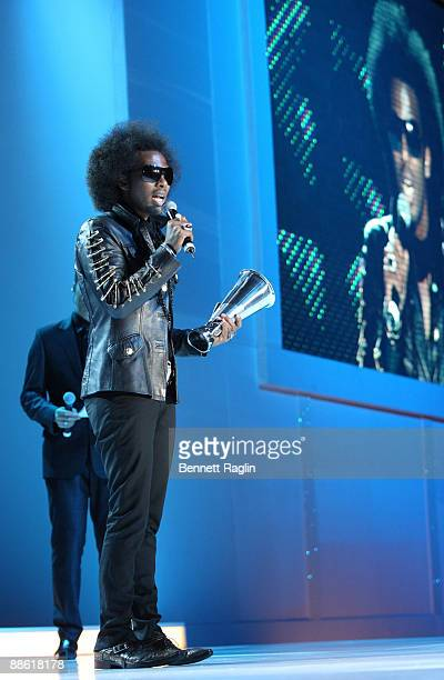 Designer David Tlale receives Designer of the Year during ARISE Africa Fashion Awards at Sandton Convention Center on June 20 2009 in Johannesburg...