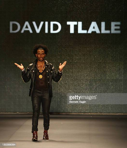 Designer David Tlale walks the runway at the This Day/Arise Magazine Spring 2010 show during MercedesBenz Fashion Week at Bryant Park on September 11...