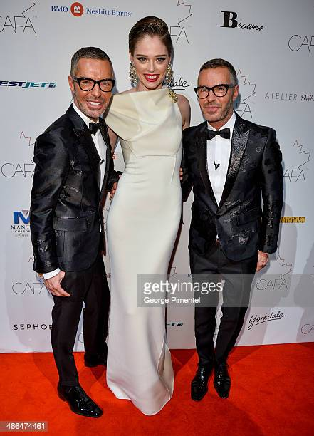 Designer Dean Caten Model Coco Rocha and Designer Dan Caten arrive at the 1st Annual Canadian Arts and Fashion Awards at the Fairmont Royal York...