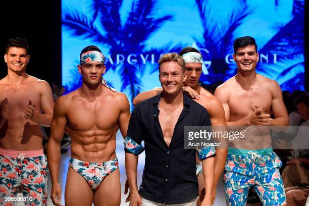 Designer Dean McCarthy and models walk the runway for Argyle Grant at Miami Swim Week powered by Art Hearts Fashion Swim/Resort 2018/19 at Faena...