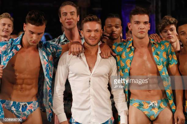 Designer Dean McCarthy walks the runway during the ARGYLE GRANT Show At New York Fashion Week Powered By Arta Hearts Fashion NYFW at The Angel...
