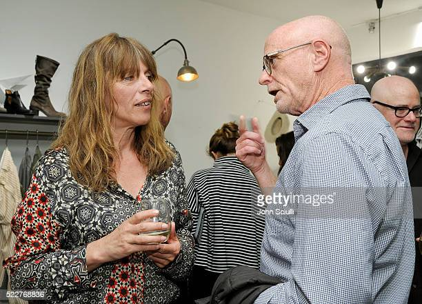 Designer Deborah Baker and Photographer Mark Hanauer attend the Fiorentini Baker and Deborah Baker celebration of the publication of Holz Hollywood...