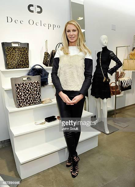 Designer Dee Ocleppo attends Dee Ocleppo PA at Saks Fifth Avenue Beverly Hills on October 17 2014 in Beverly Hills California