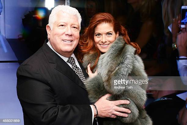 Designer Dennis Basso and actress Debra Messing attend the Dennis Basso Store Opening at Dennis Basso Store on December 10 2013 in New York City