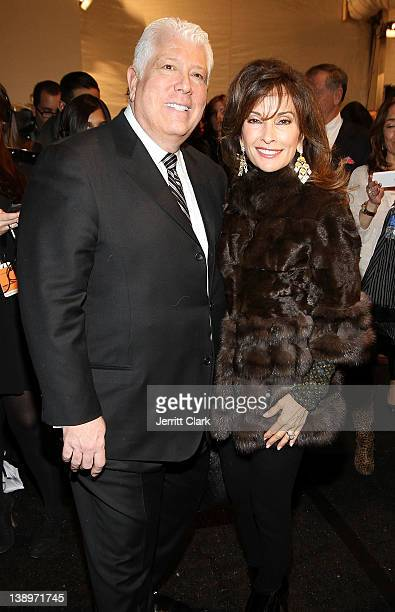 Designer Dennis Basso and actress Susan Lucci attends the Dennis Basso Fall 2012 fashion show during MercedesBenz Fashion Week at the The Stage at...