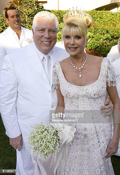 RATES Designer Dennis Basso and Ivana Trump after the wedding of Ivana Trump and Rossano Rubicondi at the MaraLago Club on April 12 2008 in Palm...