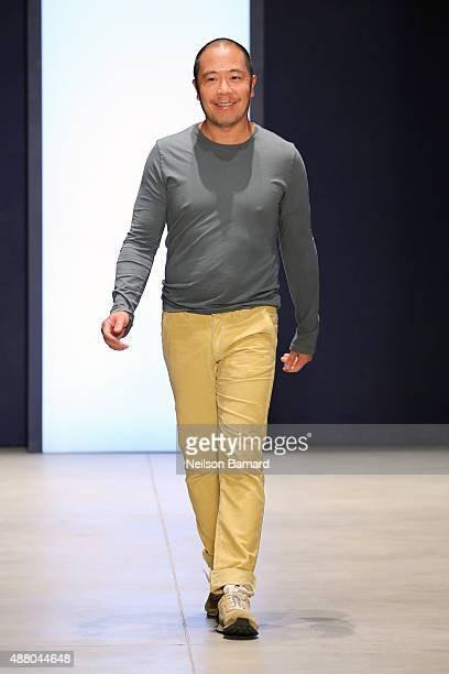 Designer Derek Lam walks the runway at the Derek Lam Spring 2016 show during New York Fashion Week The Shows at The Gallery Skylight at Clarkson Sq...
