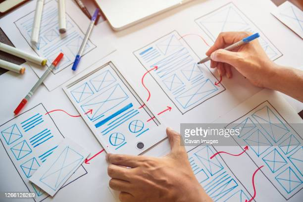 designer development ux graphic prototype application - graphical user interface stock pictures, royalty-free photos & images