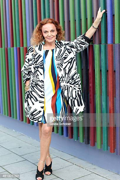 Designer Diane von Fuerstenberg attends the private dinner hosted by mytheresacom at Museum Brandhorst on June 24 2014 in Munich Germany