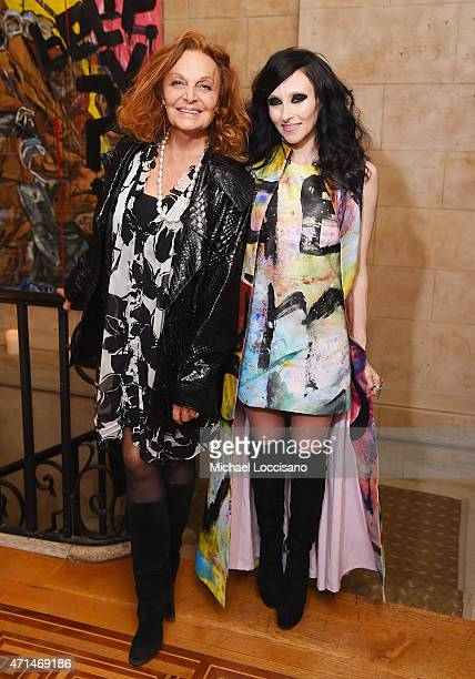 Designer Diane von Furstenberg and alice + olivia CEO and Creative Director Stacey Bendet attend the alice + olivia by Stacey Bendet and the CFDA...
