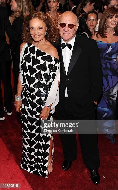 "Designer Diane Von Furstenberg and Barry Diller attend the ""Alexander McQueen: Savage Beauty"" Costume Institute Gala at The Metropolitan Museum of..."