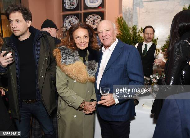 Designer Diane von Furstenberg and Barry Diller attend the 'Cezanne Et Moi' New York premiere after party at the Whitby Hotel on March 22 2017 in New...
