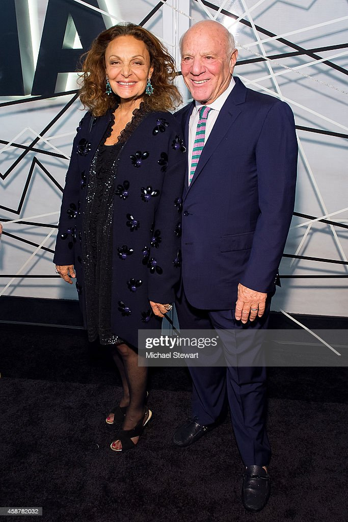 Designer Diane von Furstenberg (L) and Barry Diller attend the Museum of Modern Art Film Benefit's Tribute To Alfonso Cuaron at Museum of Modern Art on November 10, 2014 in New York City.