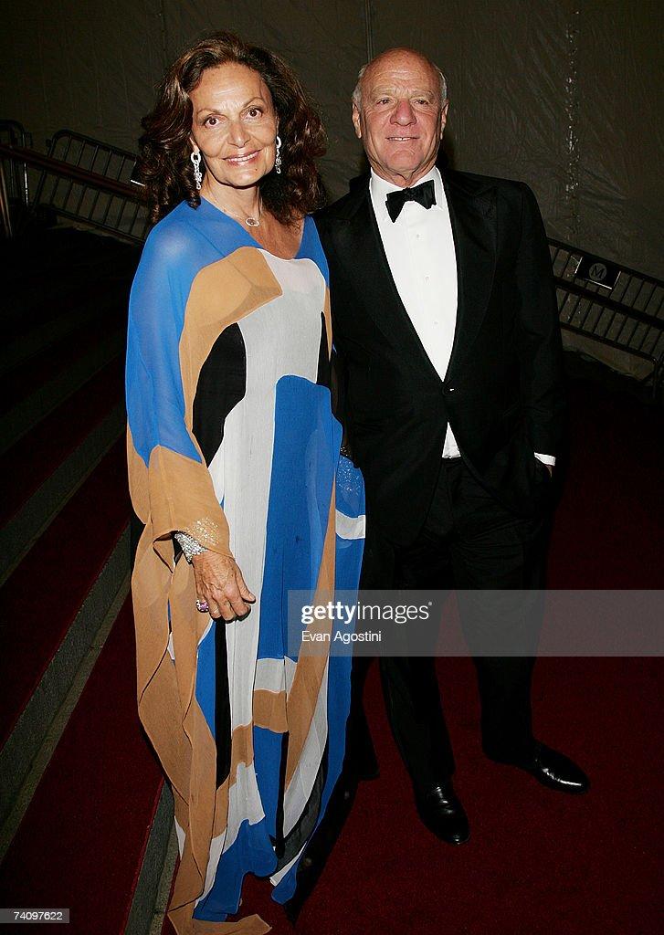 Designer Diane von Furstenberg and husband Barry Diller leaving The Metropolitan Museum of Art's Costume Institute Gala May 07, 2007 in New York City.