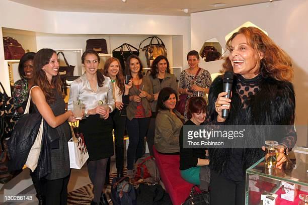 Designer Diane Von Furstenberg attends Diane Von Furstenberg/Sephora VIB Private Event at Diane Von Furtstenberg on October 25 2011 in New York City