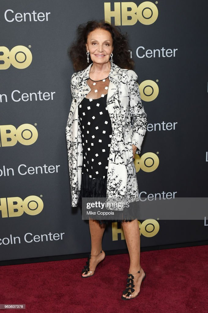 Designer Diane von Furstenberg attends Lincoln Center's American Songbook Gala at Alice Tully Hall on May 29, 2018 in New York City.