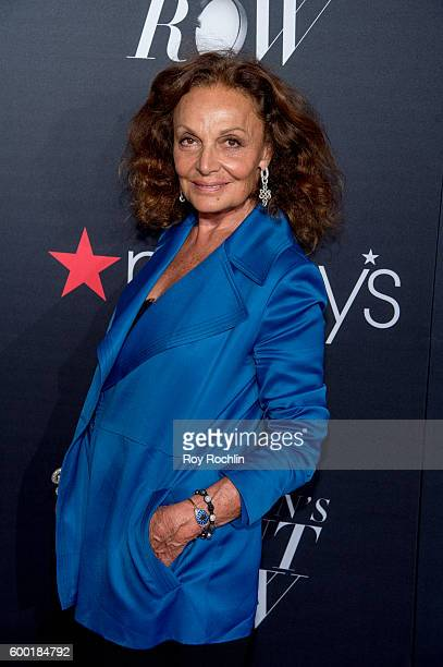 designer Diane von Furstenberg attends Macy's Presents Fashion's front row during 2016 New York Fashion Week at The Theater at Madison Square Garden...