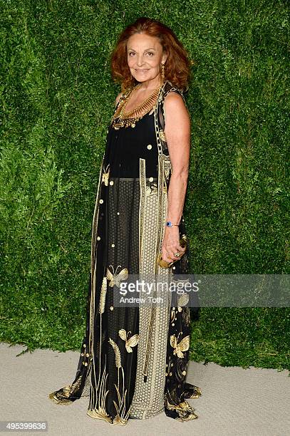 Designer Diane von Furstenberg attends the 12th annual CFDA/Vogue Fashion Fund Awards at Spring Studios on November 2 2015 in New York City