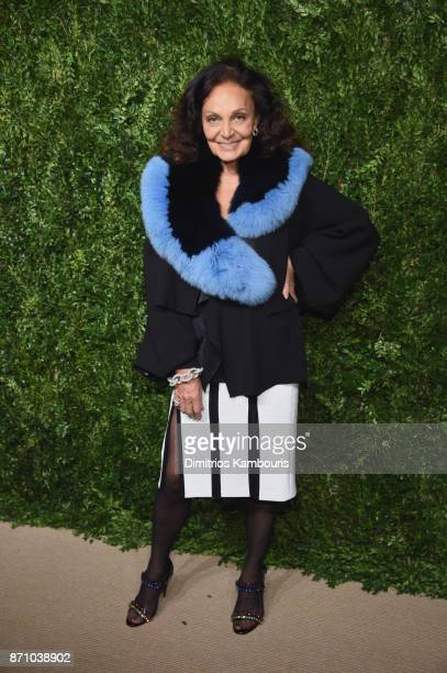 Designer Diane von Furstenberg attends the 14th Annual CFDA/Vogue Fashion Fund Awards at Weylin B Seymour's on November 6 2017 in the Brooklyn...