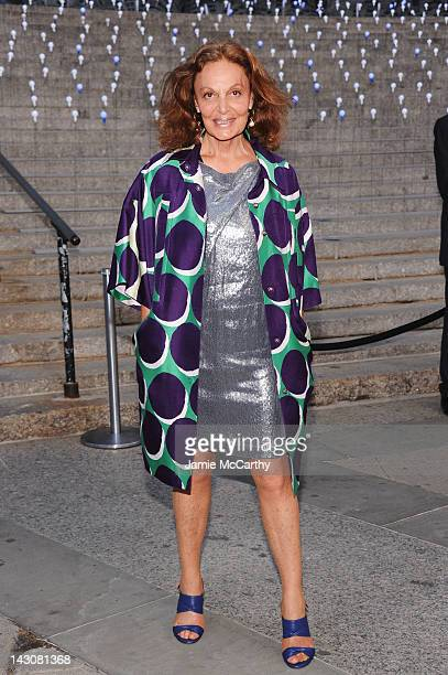 Designer Diane von Furstenberg attends the 2012 Tribeca Film Festival at the State Supreme Courthouse on April 17 2012 in New York City