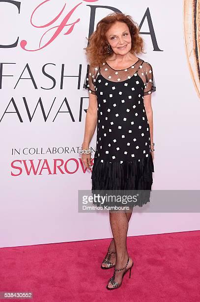 Designer Diane von Furstenberg attends the 2016 CFDA Fashion Awards at the Hammerstein Ballroom on June 6, 2016 in New York City.